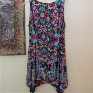 Cute and Vibrant Sleeveless Shift Dress 2XL